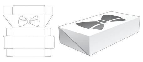 virar caixa de lata com molde de estêncil de arco vetor