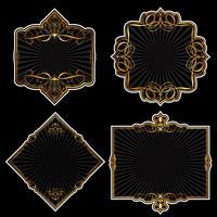 Coleção de molduras douradas vetor