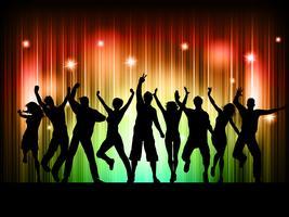 Pessoas dançando vetor
