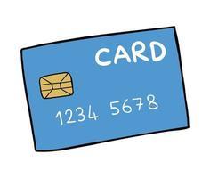 ilustração vetorial dos desenhos animados de cartão de crédito. vetor