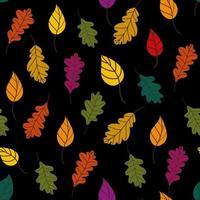 padrão de folhas caídas vetor