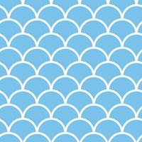padrão de escala de peixe sem costura na cor azul vetor marinho fundo náutico pano de fundo criativo com figuras geométricas papel de parede engraçado para têxteis e tecido estilo de moda