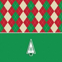 fundo de padrão de argyle de árvore de Natal vetor