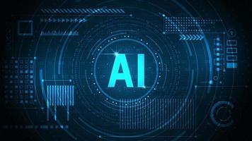 fundo de tecnologia com um conceito de IA vetor