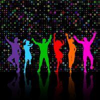 Festa, pessoas, dançar vetor