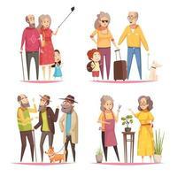 ilustração em vetor longevidade 2x2 design conceito