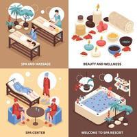 ilustração em vetor conceito design spa center 2x2