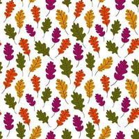 folhas caídas pattern.bothnian outono padrão com folhas caídas de árvores em um fundo branco.colorful outono background.vector ilustração em estilo simples para papel de embrulho, impressão têxtil, blogs vetor