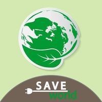 conceito de terra verde com folhas, ilustração de ecologia nature.vector. vetor