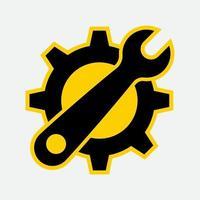 ícone da ferramenta de serviço em fundo branco, ilustração de estilo de design simples. vetor