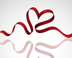 Coração da fita vetor