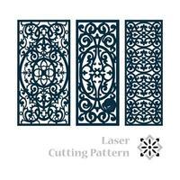 padrão islâmico de corte a laser vetor