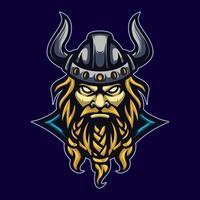 mascote viking para esporte vetor