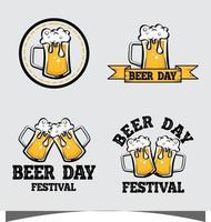conjunto de ícones do festival de cerveja vetor