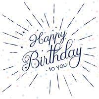 Cartão de feliz aniversário abstrato decorativo fundo vetor