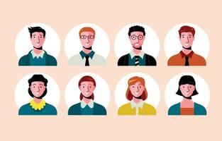conjunto de avatar de empresários vetor