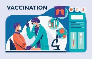 elemento infográfico para coleta de vacinas vetor
