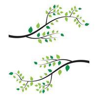 projeto de ilustração vetorial de galho de árvore vetor