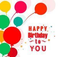 Ilustração de fundo abstrato colorido feliz aniversário cartão vetor