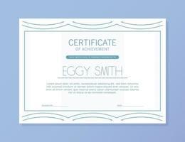modelo de prêmio de certificado abstrato vetor