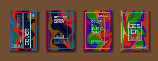 mistura de tintas acrílicas. textura de mármore líquido. arte fluida. aplicável para capa de design, apresentação, convite, folheto, relatório anual, cartaz, embalagem de desing. arte moderna - vetor eps10