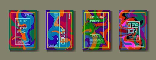 capa do modelo de design, cartaz, conjunto de brochura. Estilo retrô. formato a4. vetor eps 10