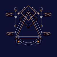 padrão de geometria sagrada para plano de fundo, vetor poster.eps 10