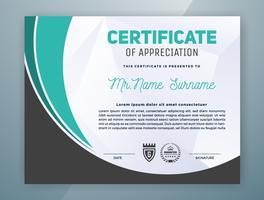 Projeto de modelo de certificado profissional multiuso vetor