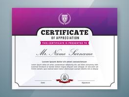 Projeto de modelo de certificado profissional multiuso