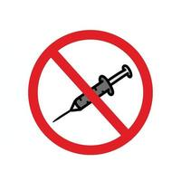 diga não à ilustração do modelo de design de vetor de drogas