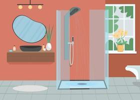 ilustração vetorial de cor plana em casa de banho vetor