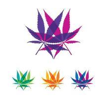 sinal de vetor de cannabis multicolor