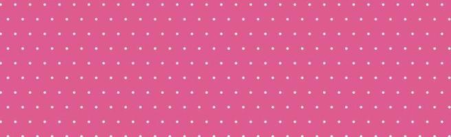 padrão panorâmico rosa com pontos brancos - vetor