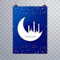 Projeto moderno do molde do cartão do folheto de Eid Mubarak vetor