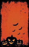assustador fundo vermelho escuro de halloween vetor