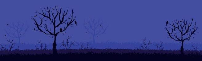 muitos morcegos em um céu noturno azul brilhante vetor