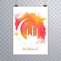 Modelo de folheto abstrato Eid Mubarak vetor