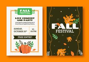 Festival de outono outubro folheto convite modelo ilustração vetorial vetor