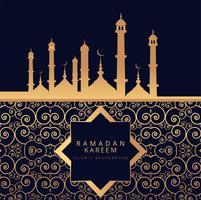 Ramadan kareem fundo religioso vetor