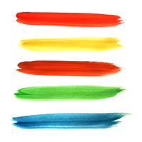 Mão de aquarela moderna desenhar conjunto de desenhos coloridos de acidente vascular cerebral vetor