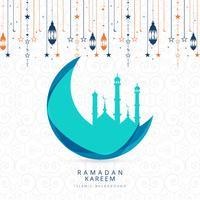 Vetor de ilustração de fundo religioso Ramadan Kareem