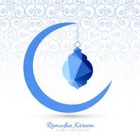 Fundo de lua criativa elegante Ramadan Kareem vetor