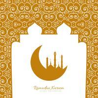 Ramadan kareem religioso iskamic ilustração de fundo vetor
