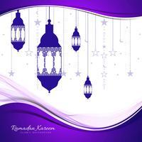 Cartão abstrato Ramadan Kareem fundo vetor