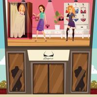 ilustração em vetor lingerie boutique banners planas
