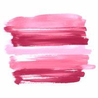 Mão abstrata desenhar design de aquarela pincelada colorida vetor