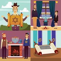 ilustração em vetor conceito design de nação judaica