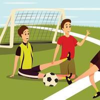 ilustração em vetor esporte lesão física