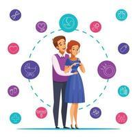 ilustração em vetor gravidez desenho animado