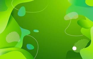 fundo de fluido orgânico verde vetor